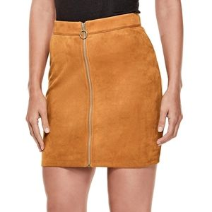 Guess Monza Faux Suede Mini Skirt